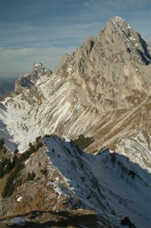 Gipfelblick von der Schneid
