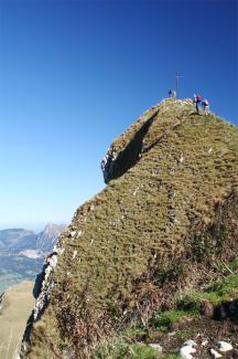 am Gipfel der Roten Spitze