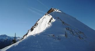 Gipfelgrat Schneid