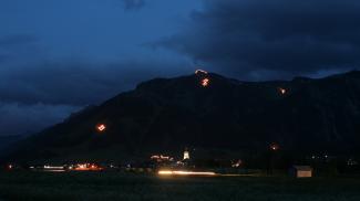 Herz-Jesu-Feuer bei Tannheim