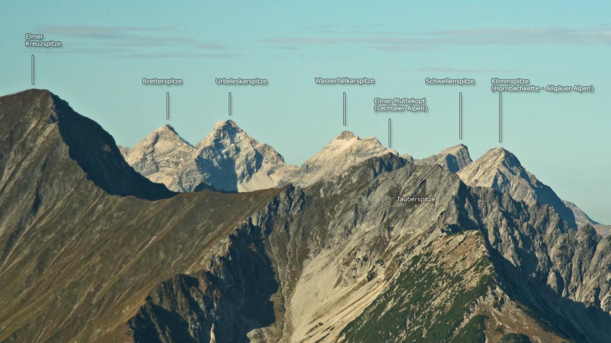 der Gipfelblick von der Schlierewand nach Westen
