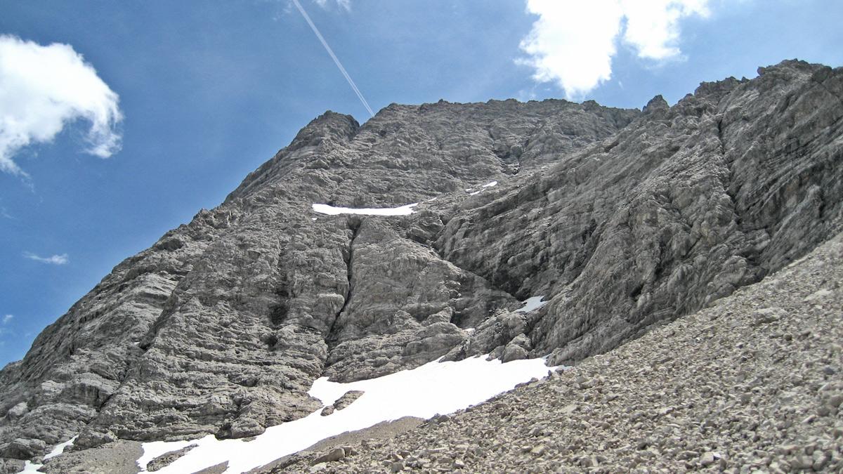 die imposante Nordwand der Marchspitze