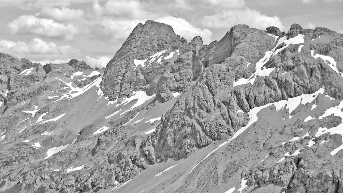Blick auf die Marchspitze von Nordwesten