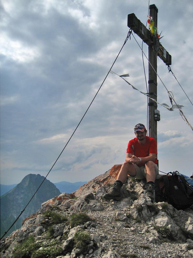 am Gipfel der Jochspitze angekommen