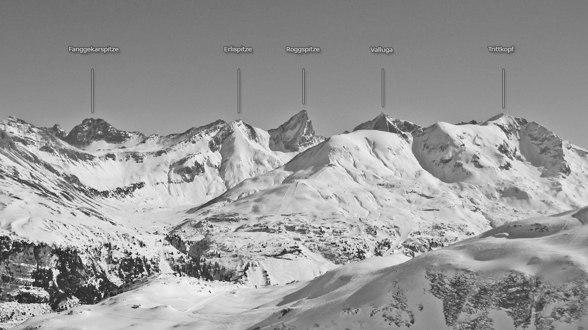 pazüeltal fanggekarspitze erlispitze roggspitze valluga trittkopf