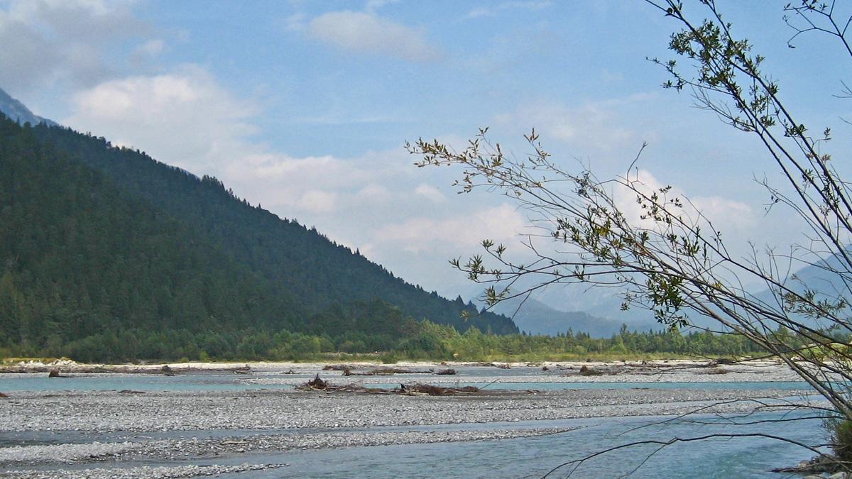 der Lech bei Forchach - eine der letzten Wildflusslandschaften Europas
