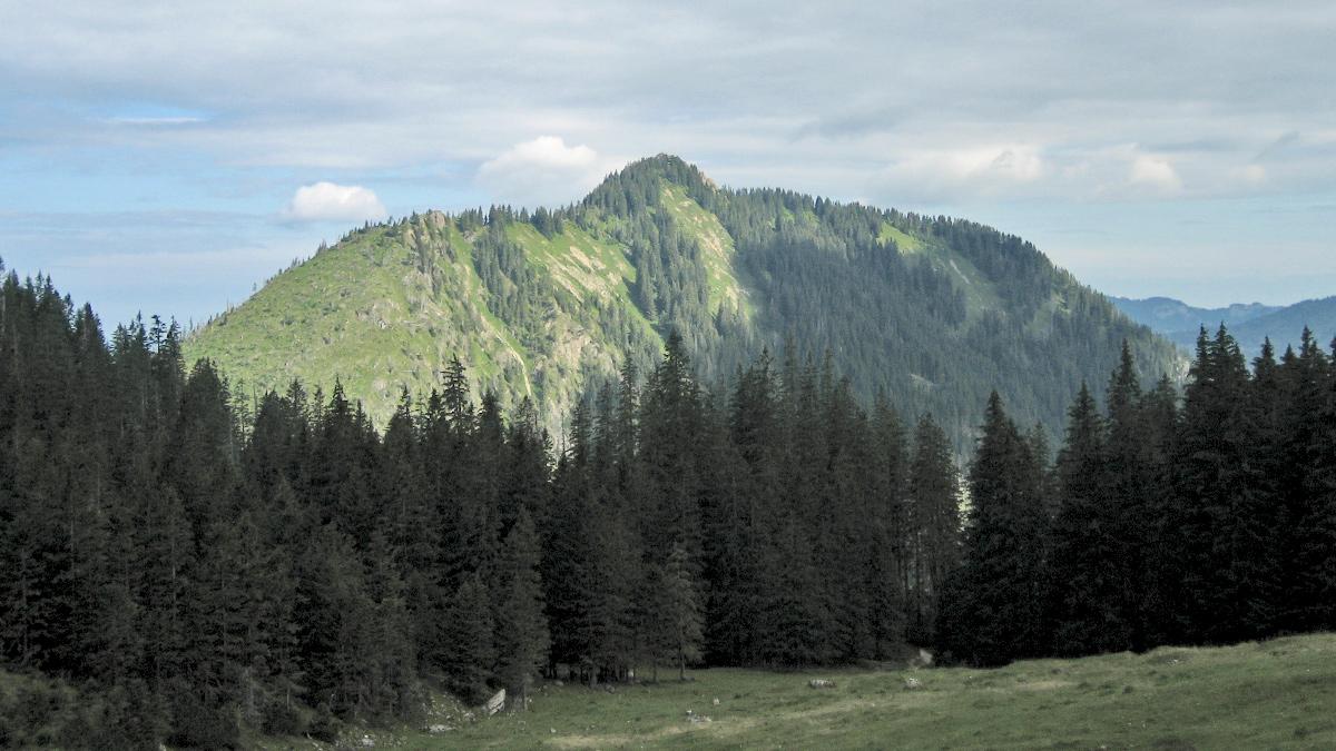der Strausberg (li.) und das Imberger Horn aus dem Häbelesgund gesehen