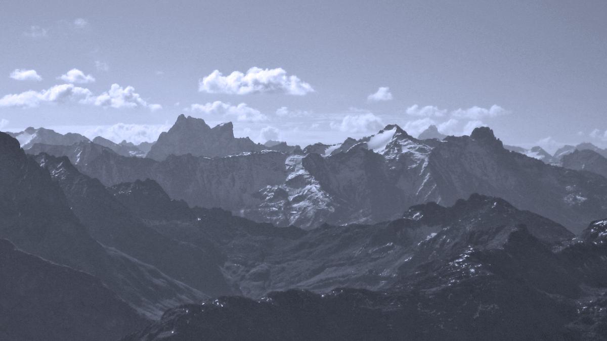 bekannte Gipfel im Verwall - Patteriol (li.) und Kaltenberg