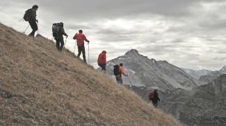 Abstieg von der Rotschrofenspitze