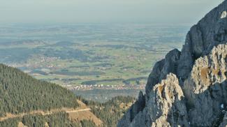 Übergang ins Alpenvorland