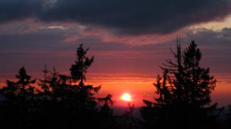 Sonnenuntergang an der Falzkopfalpe