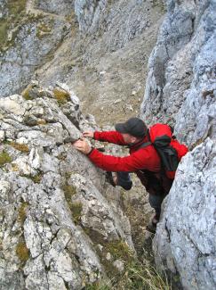 Einstieg Köllenspitz-Gipfelrinne