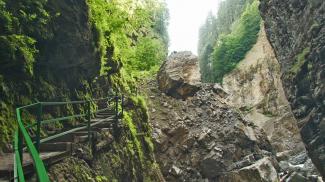 Riesen-Felssturz in der Breitachklamm