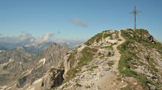 am Gipfel des Geißhorns