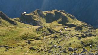 Jagdhütte an der Hochgletscheralpe