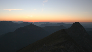 Sonnenuntergang am Brentenjoch