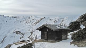 Jagdhütte über der Gappenfeldscharte