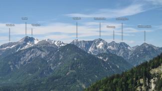 die südlichen Ammergauer Alpen