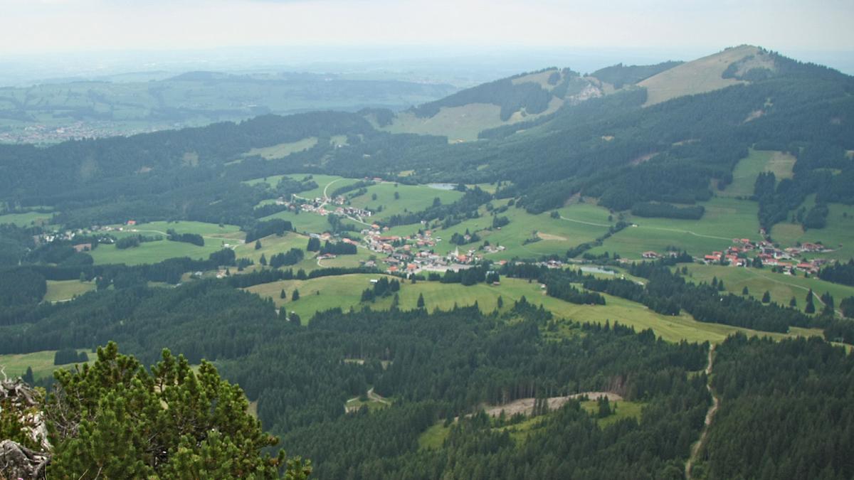 das Gemeindegebiet der Exklave Jungholz