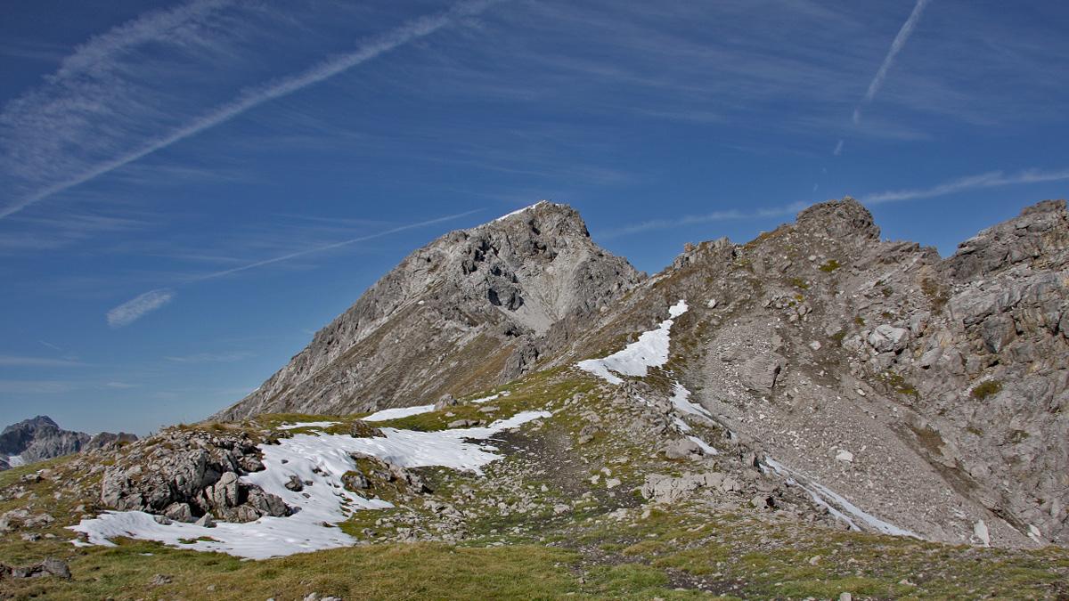 Anstieg über den Südost-Grat zur Samspitze