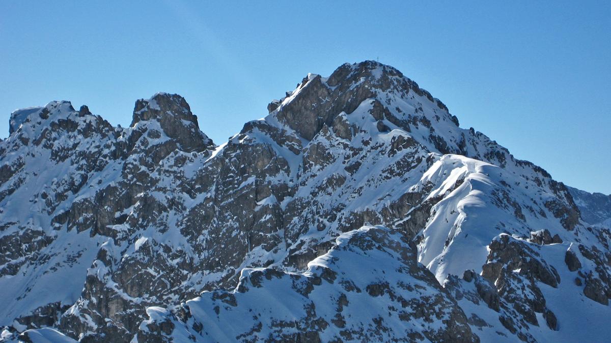 Blick von Norden (Große Schafkarspitze) auf den Großstein