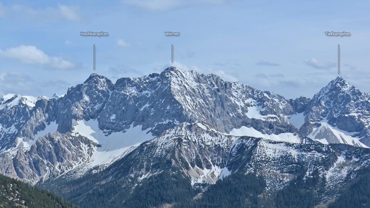 Gipfelreihe im Nördlichen Karwendel