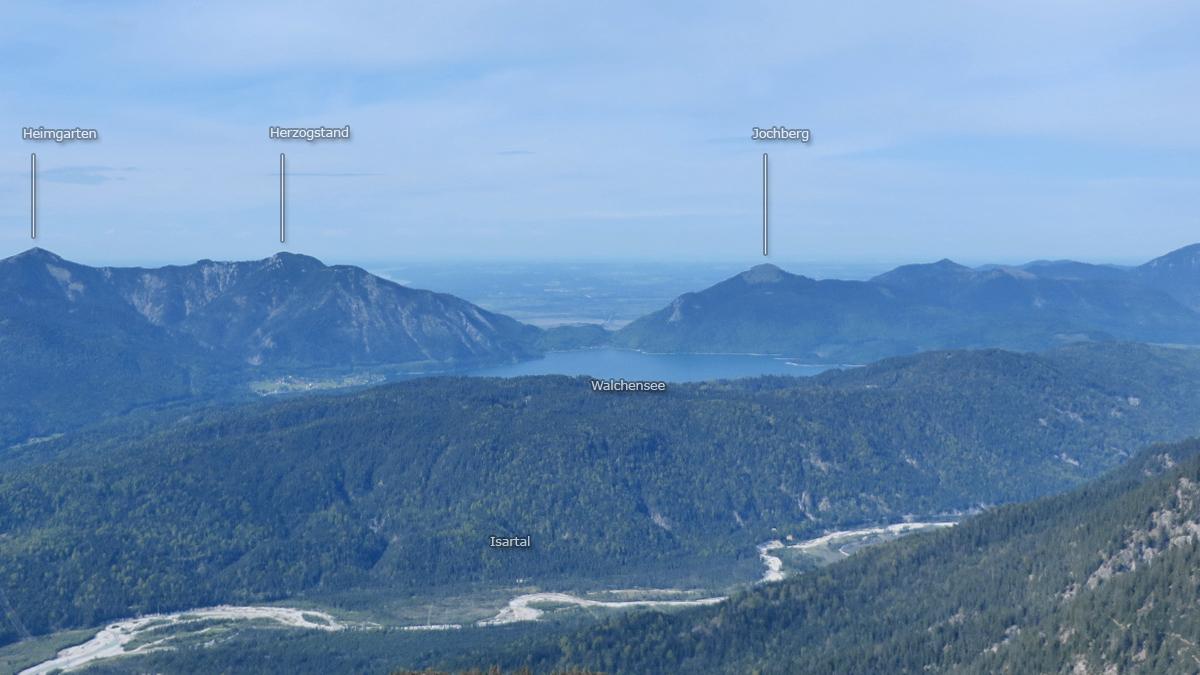 die Bergwelt rund um den Walchensee