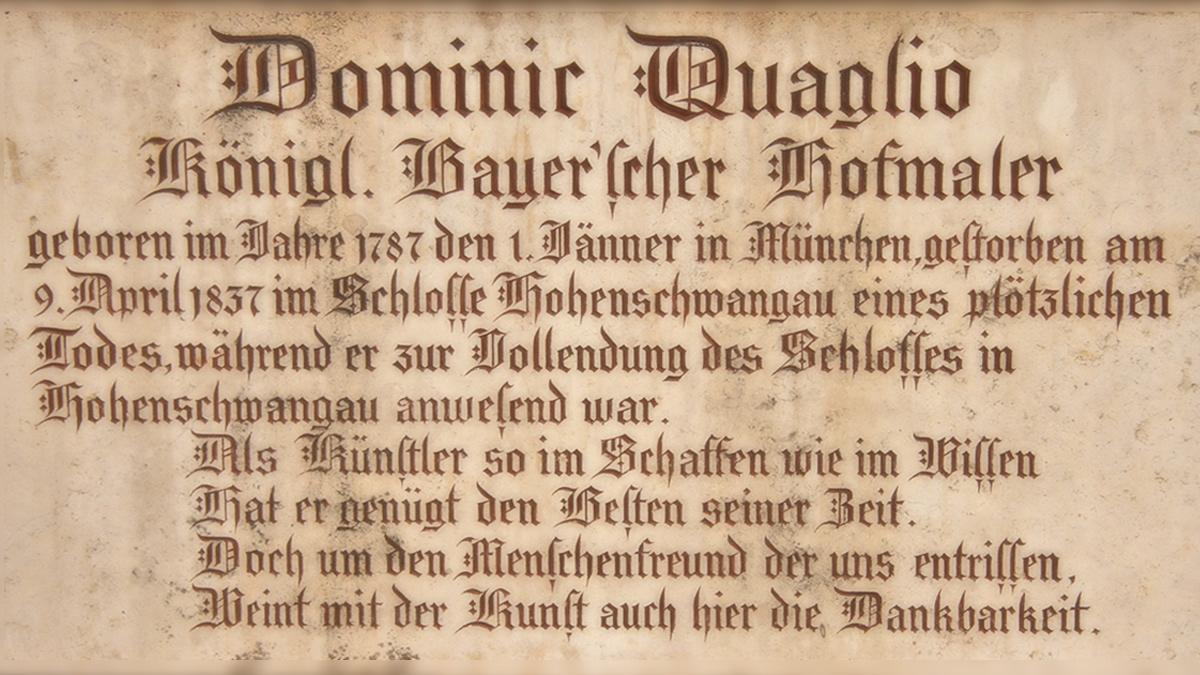 dominic quaglio hofmaler künstler hohenschwangau füssen
