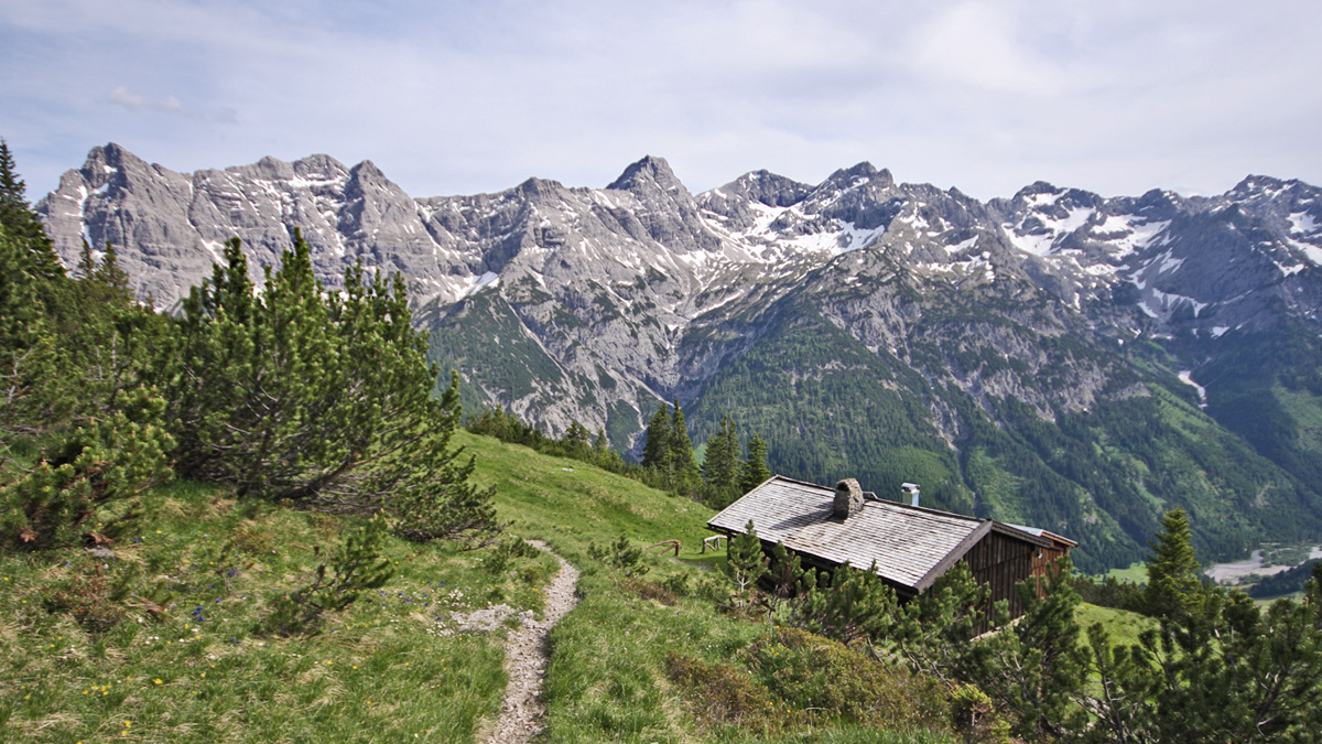 die Schwabegghütten und die Hornbachkette