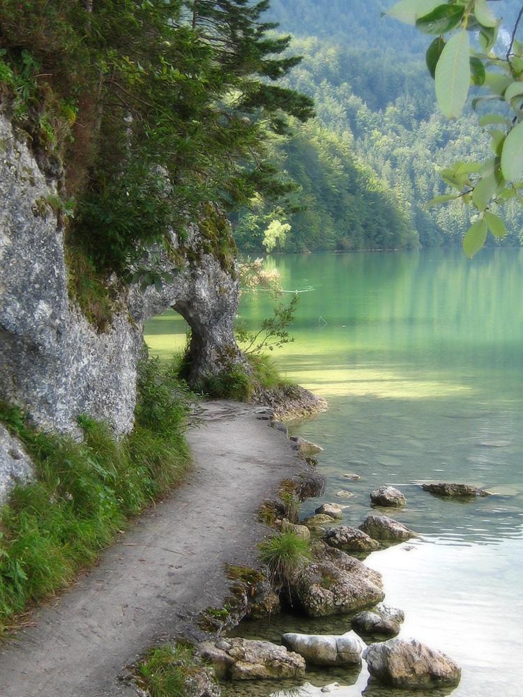 das Felsentor am Weißensee