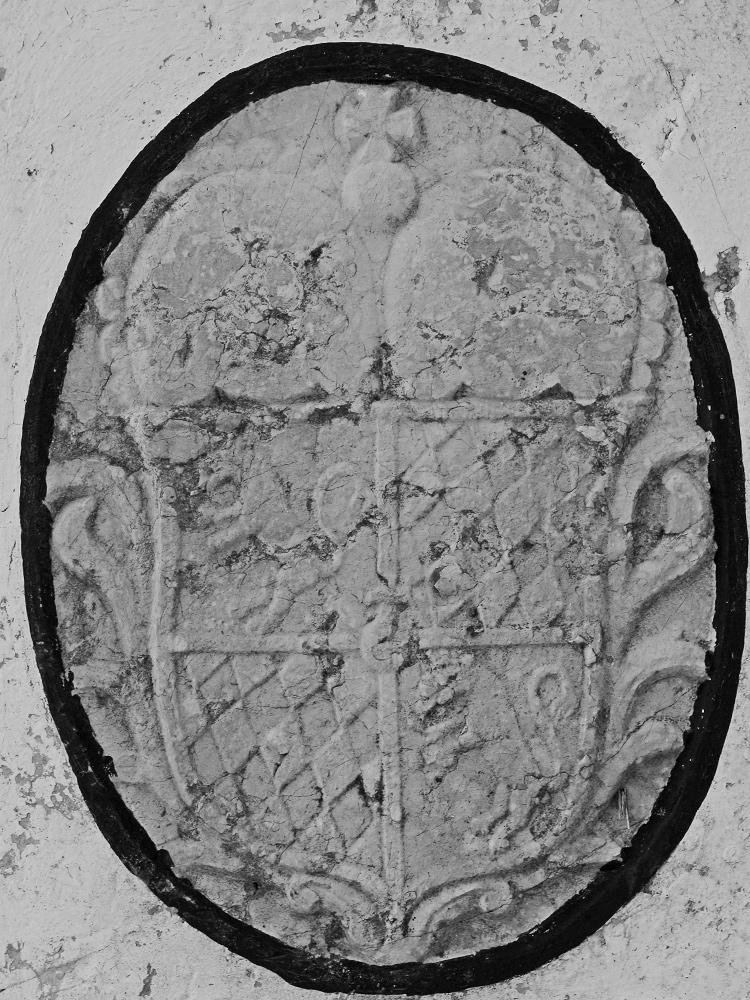 Wappen des Kurfürstentums Bayern auf dem Grenzstein am Dreiländereck (Schwarzenberg)