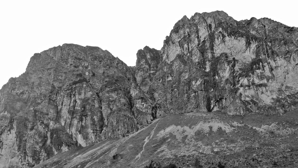die Nordwand des Aggensteins
