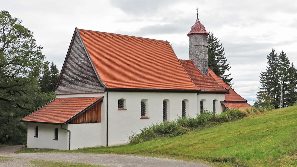 oberhalb von Nesselwang findet sich die Wallfahrtskirche Maria Trost