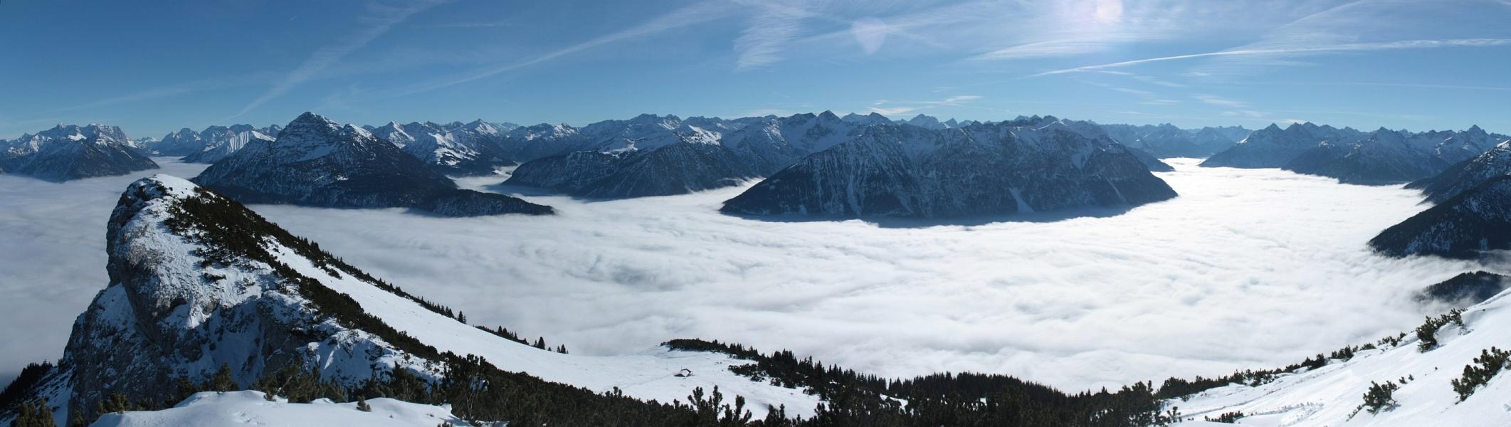 Gipfelpanorama von der Gaichtspitze