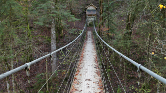 Hängebrücke Drahtsteg