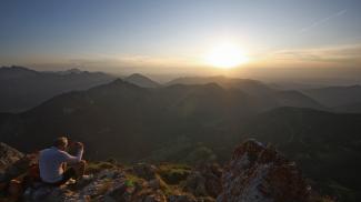 Sonnenuntergang am Aggenstein