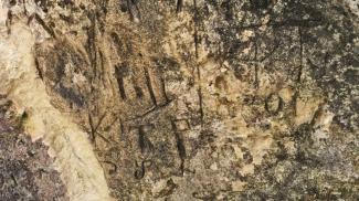 Felsritzungen am Hirtenstein