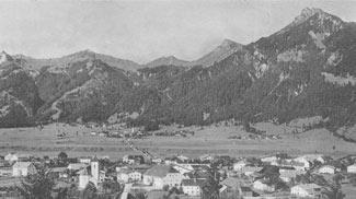 Lechaschau und die Lechbrücke um 1900