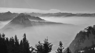 Nebelschleier über dem Illertal