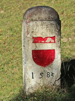 historischer Grenzstein am Seekopf