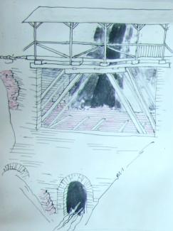 Rekonstruktion der alten Brücke an der Alten Gaicht