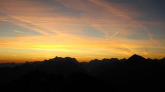 Sonnenaufgang an der Gaichtspitze