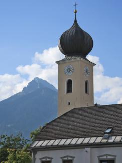 Kirchturm Reuttener Pfarrkirche St. Anna
