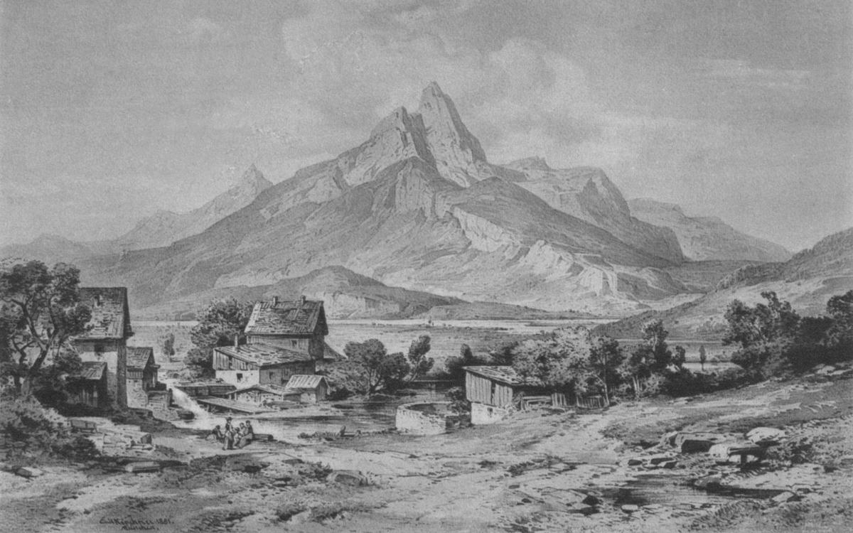 Die Gernspitze bei Reutte - E. Kirchner (1881)