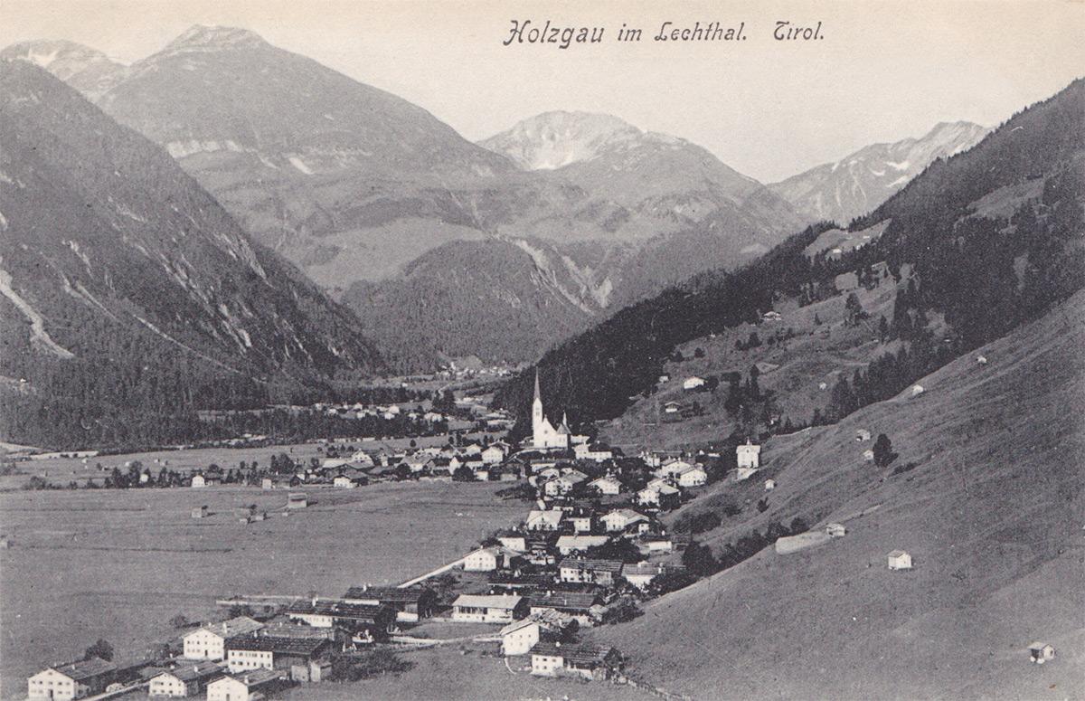 der Lechtaler Ort Holzgau noch vor 1906