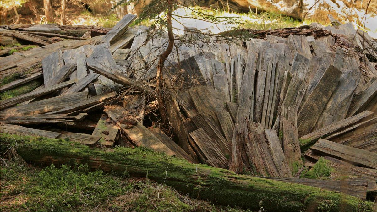 die alten Heuhütten bei den Stallmähdern, am Schäffelgras und bei Durrach bieten allesamt ein etwa gleiches Bild - nur wenige der Städel haben die Zeit überdauert