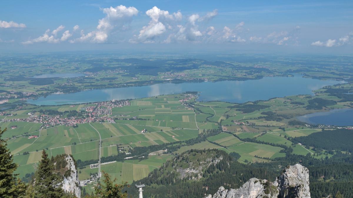 der Forggensee im Alpenvorland