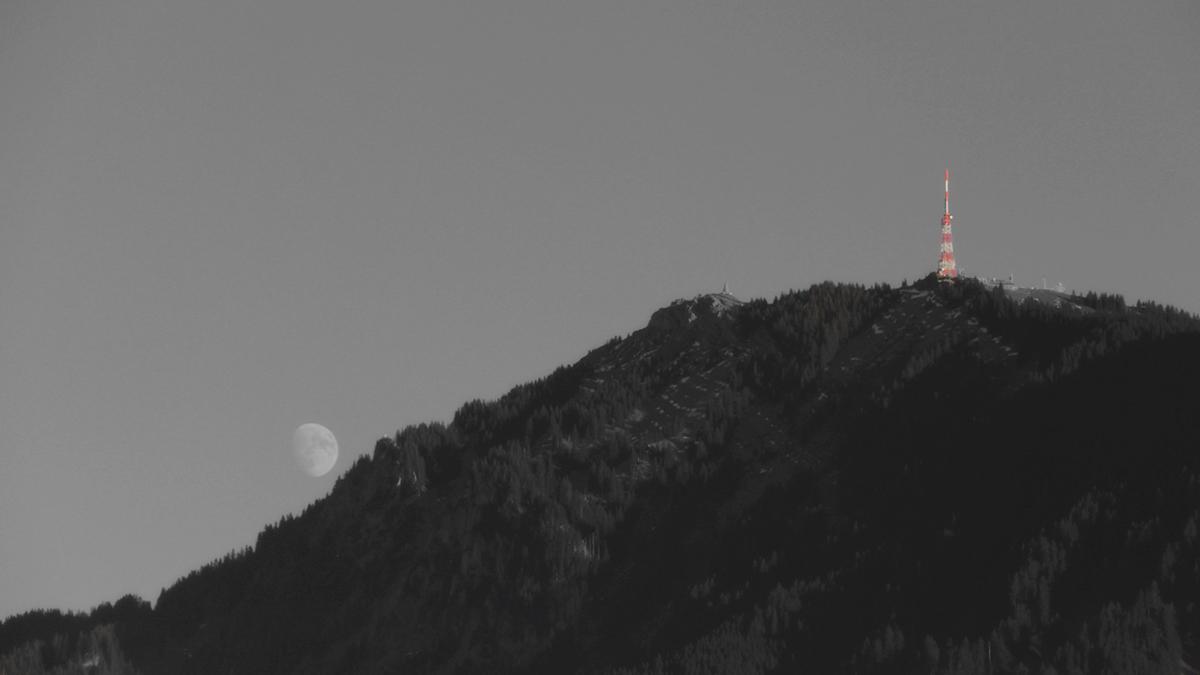 der Grünten und der Mond