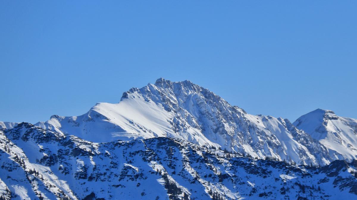 das Rauhhorn von Nordwesten (Boaleskopf) gesehen
