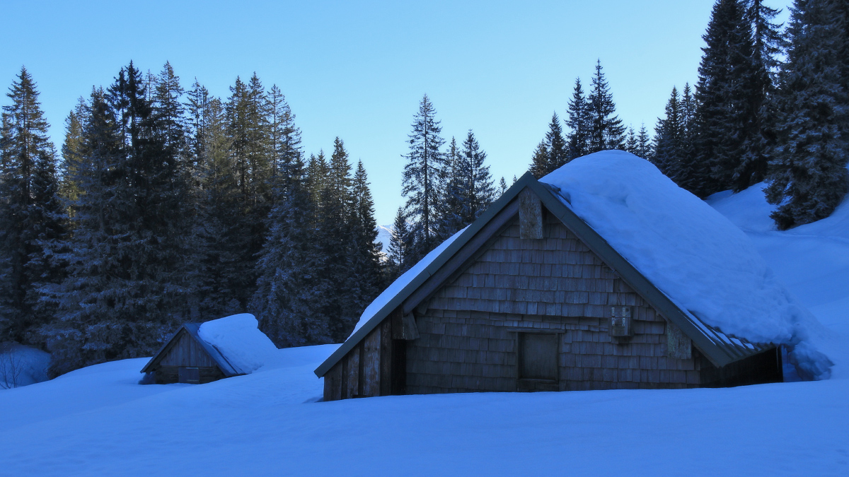 Hütten im Kessel des Schlierbergs